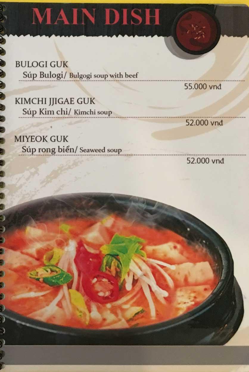 Menu Busan Korean Food - Bình Thạnh  8