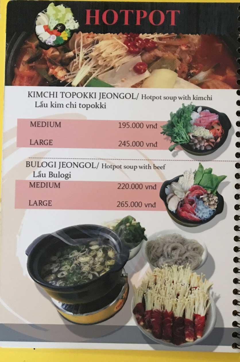 Menu Busan Korean Food - Bình Thạnh  9