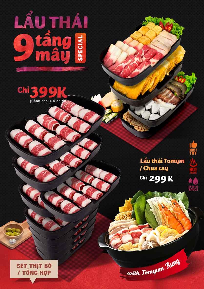 Menu Food Center - Mipec Tây Sơn 2