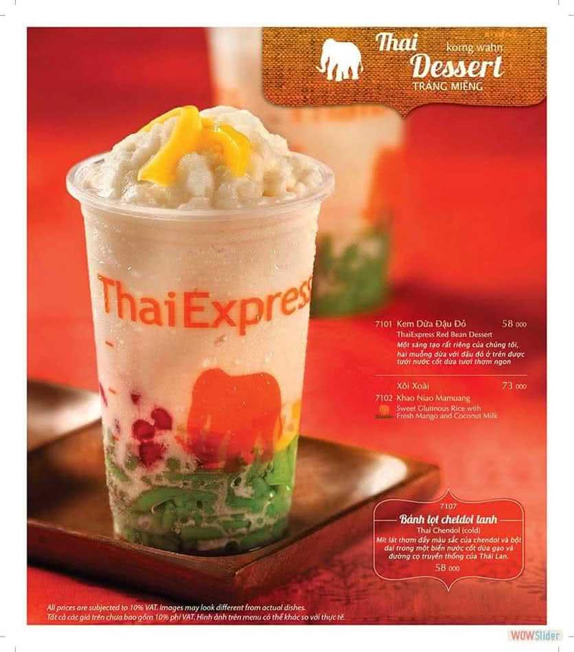 Menu ThaiExpress - Times City 14