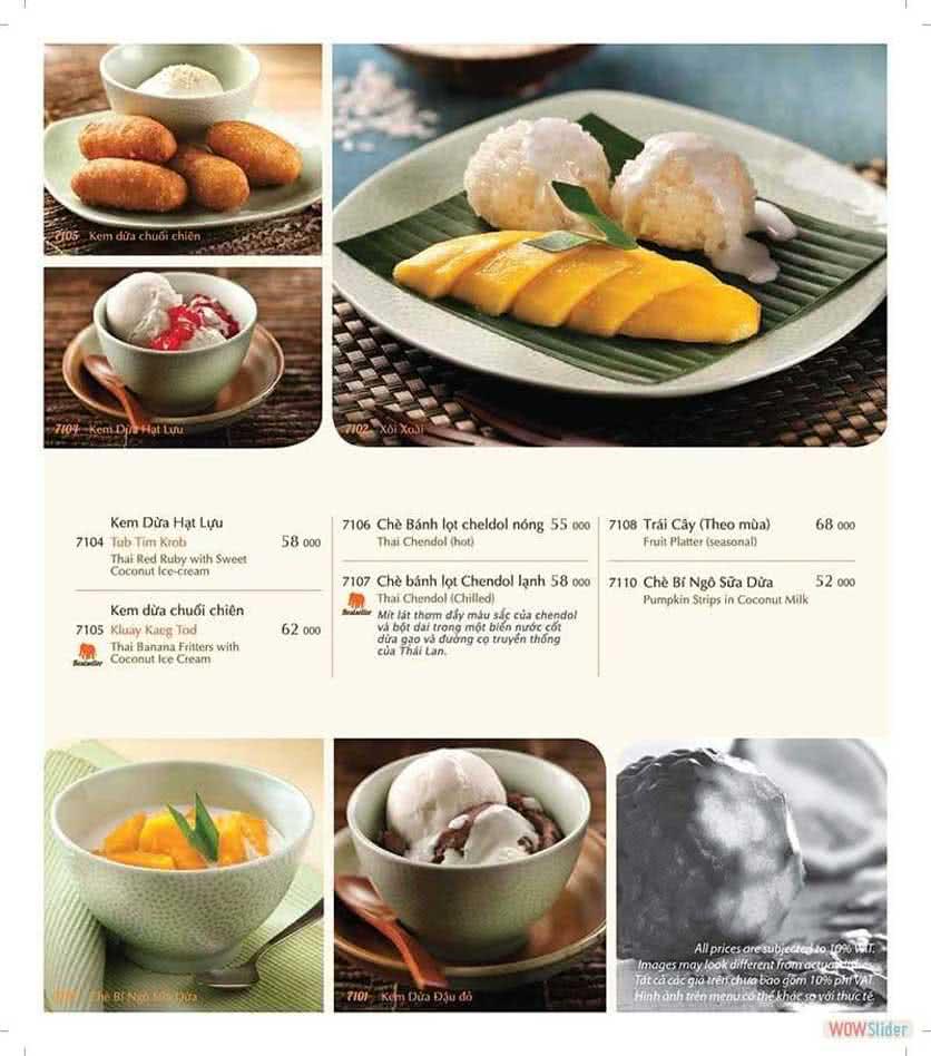 Menu ThaiExpress - Times City 15