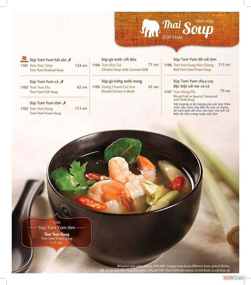 Menu ThaiExpress - Times City 1