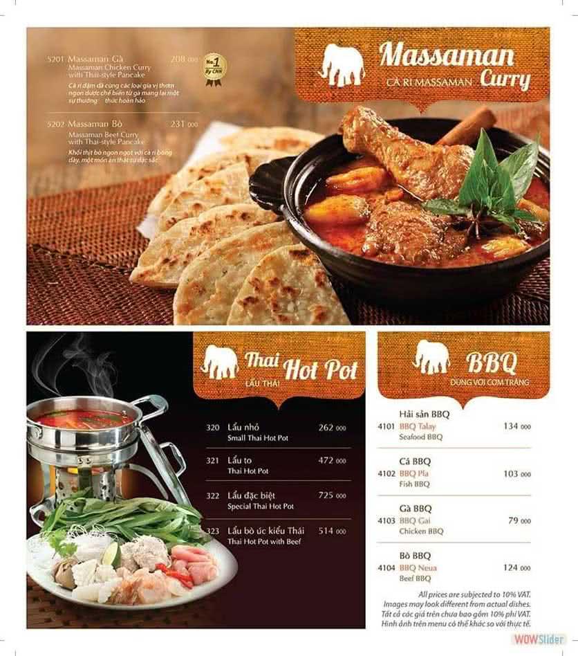 Menu ThaiExpress - Mipec Tây Sơn 7