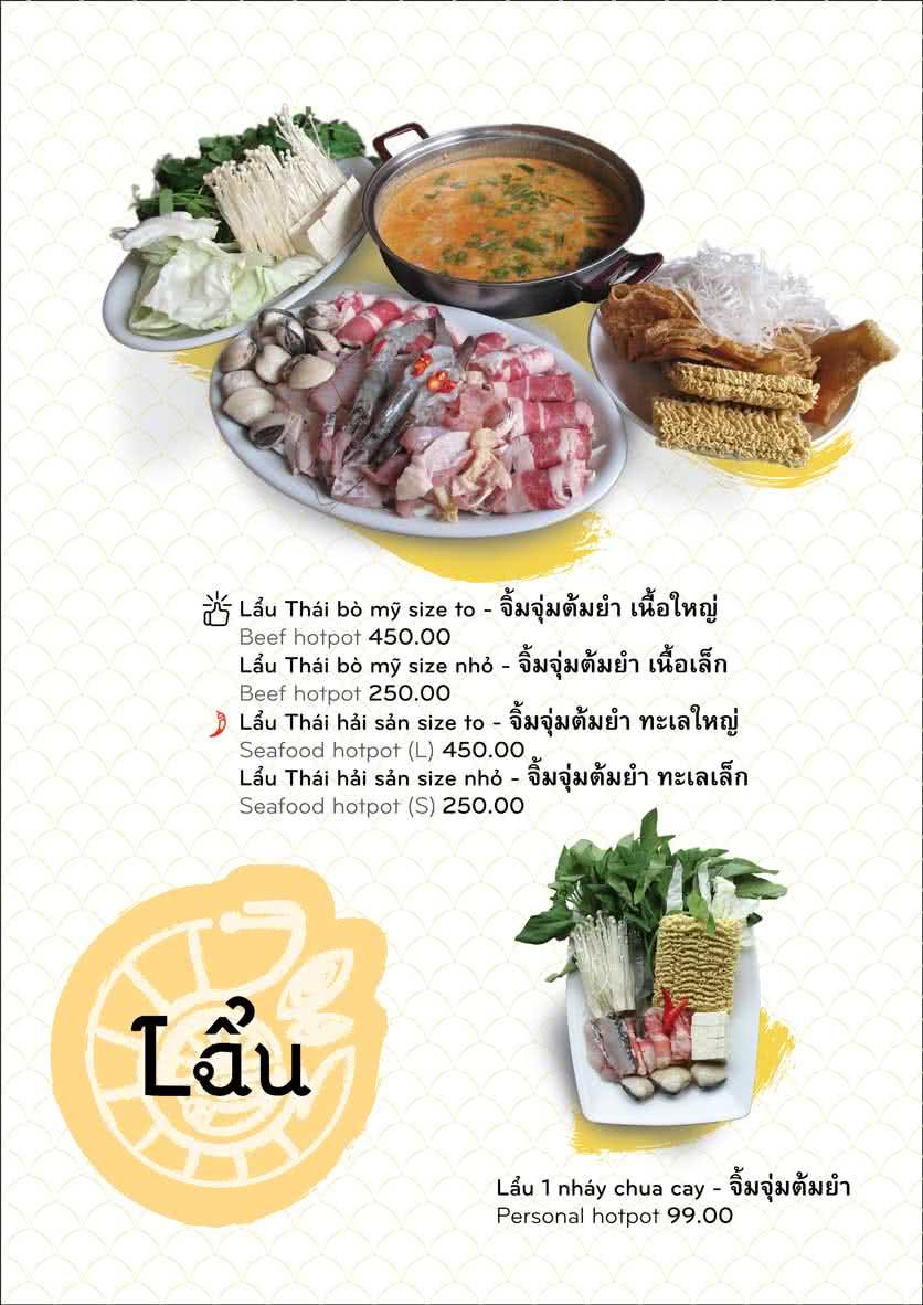 Menu Chai Talay 11