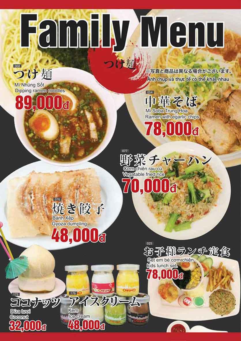 Menu Lẩu băng chuyền Osaka.1 - Đường D2 3