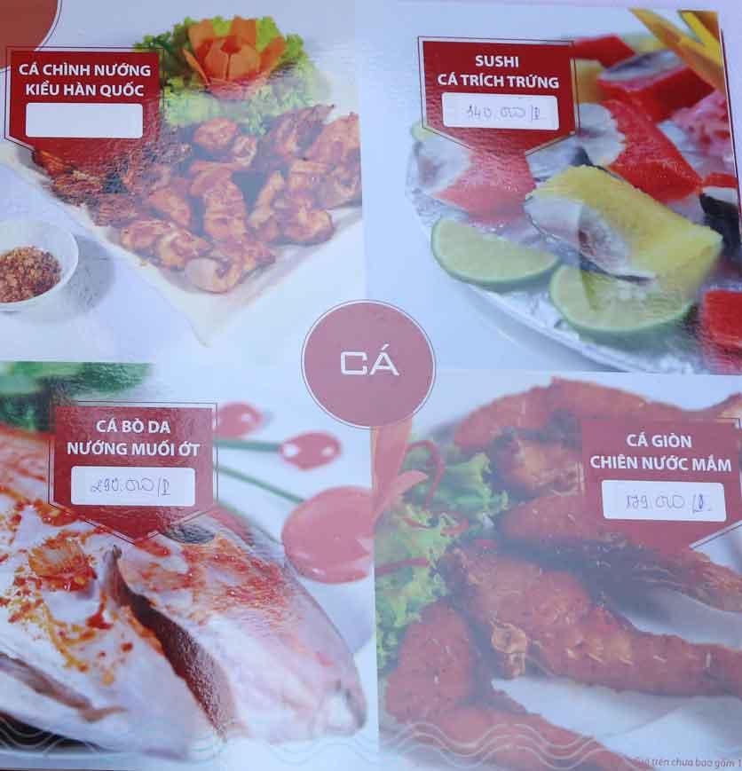 Menu Nhà hàng Phi Phố Biển - Lê Hồng Phong  11