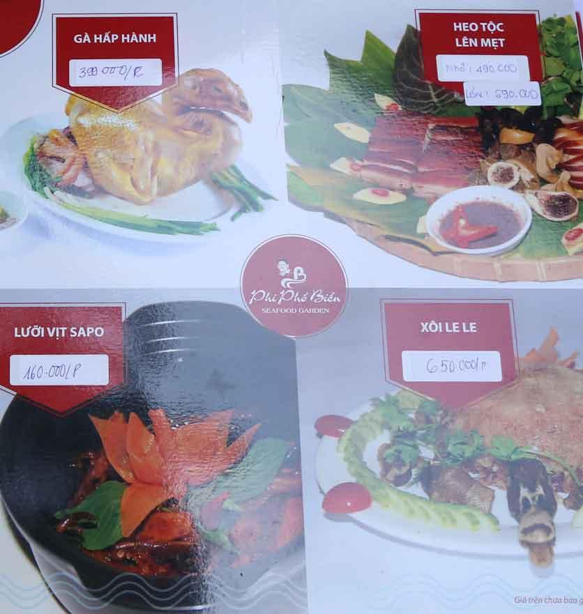 Menu Nhà hàng Phi Phố Biển - Lê Hồng Phong  13