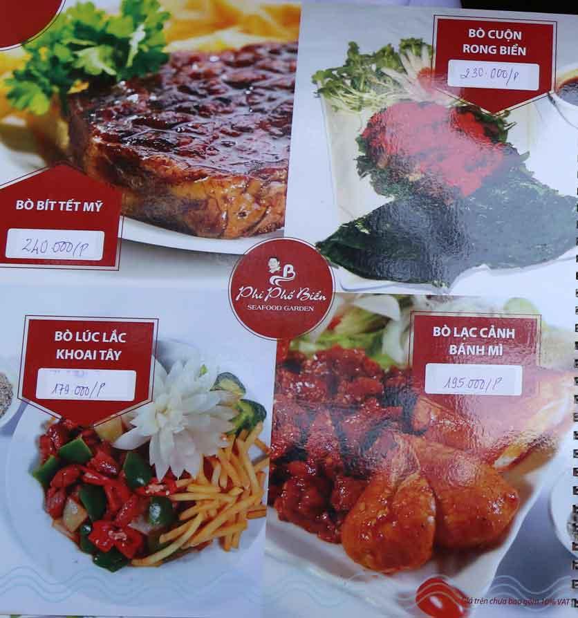 Menu Nhà hàng Phi Phố Biển - Lê Hồng Phong  16