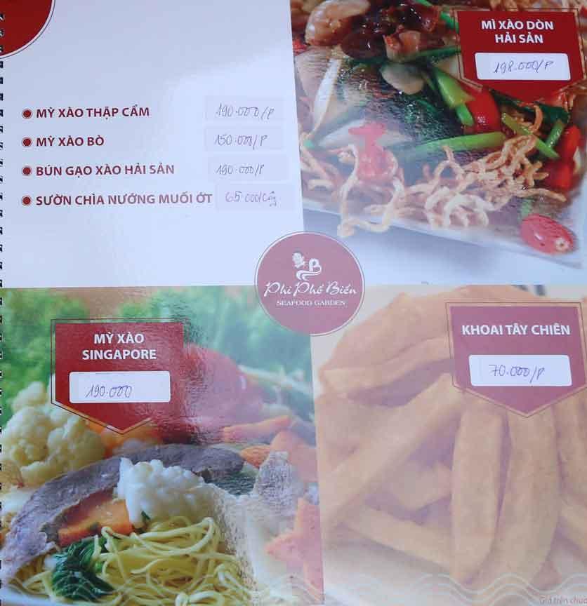 Menu Nhà hàng Phi Phố Biển - Lê Hồng Phong  17