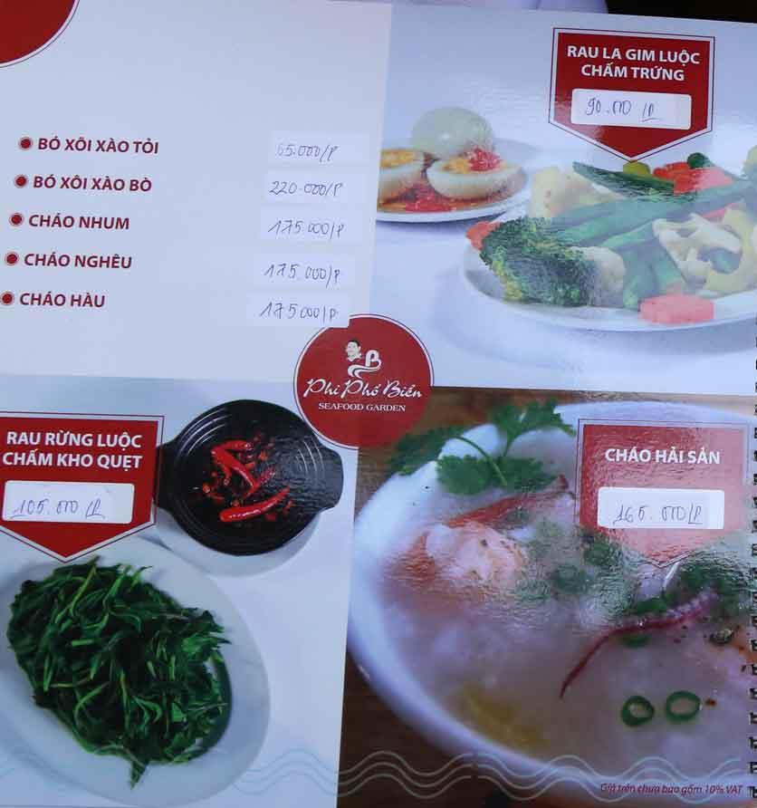 Menu Nhà hàng Phi Phố Biển - Lê Hồng Phong  18