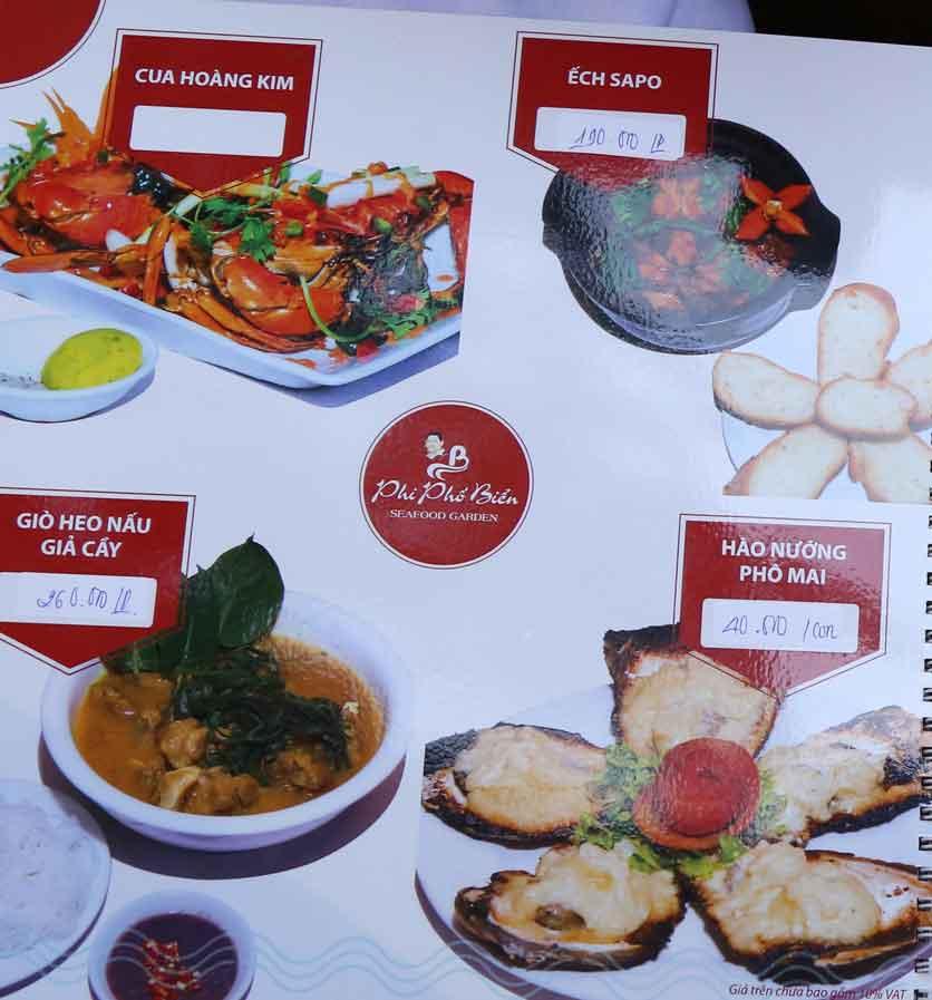 Menu Nhà hàng Phi Phố Biển - Lê Hồng Phong  20