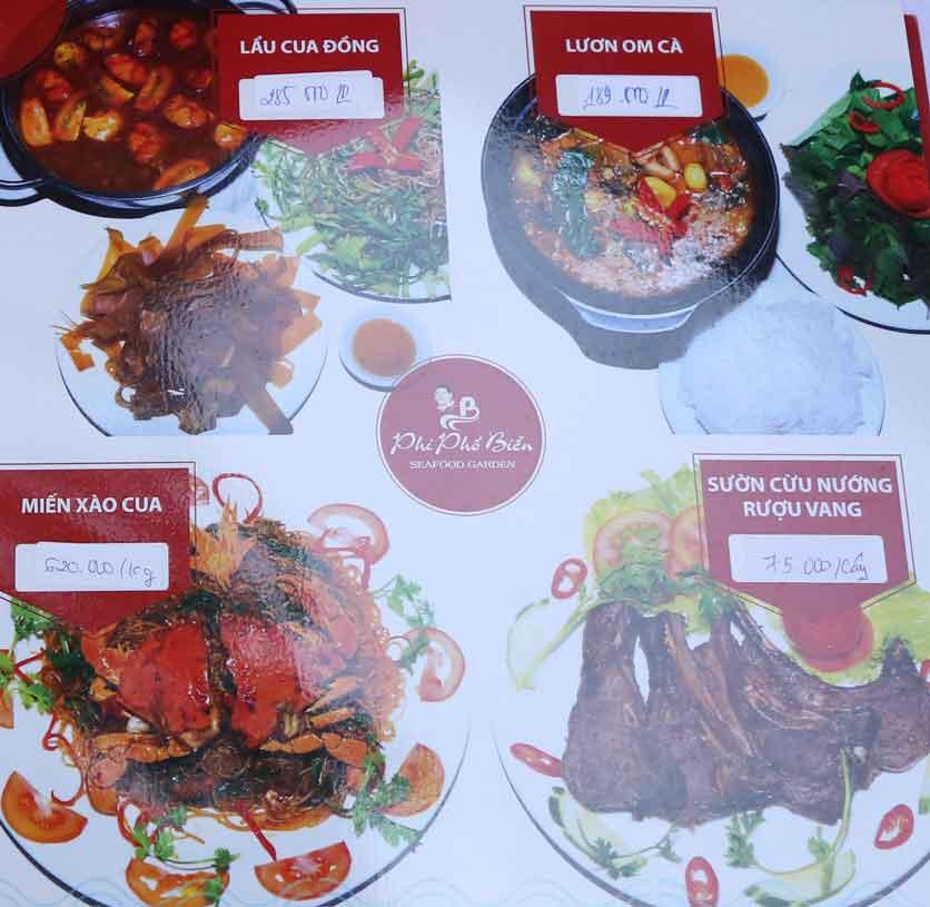 Menu Nhà hàng Phi Phố Biển - Lê Hồng Phong  21
