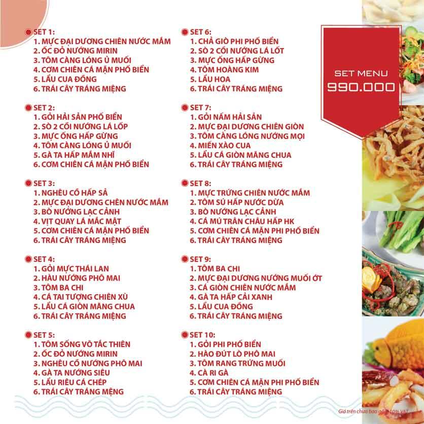 Menu Nhà hàng Phi Phố Biển - Lê Hồng Phong  22