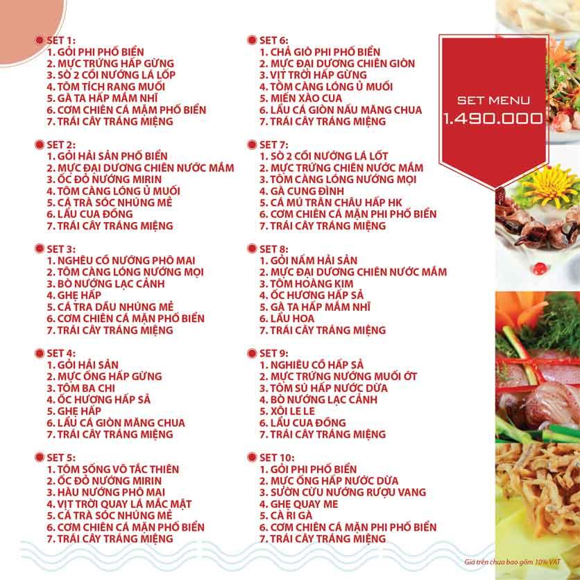 Menu Nhà hàng Phi Phố Biển - Lê Hồng Phong  23