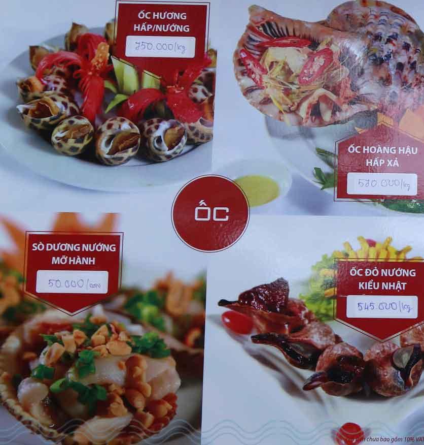 Menu Nhà hàng Phi Phố Biển - Lê Hồng Phong  3
