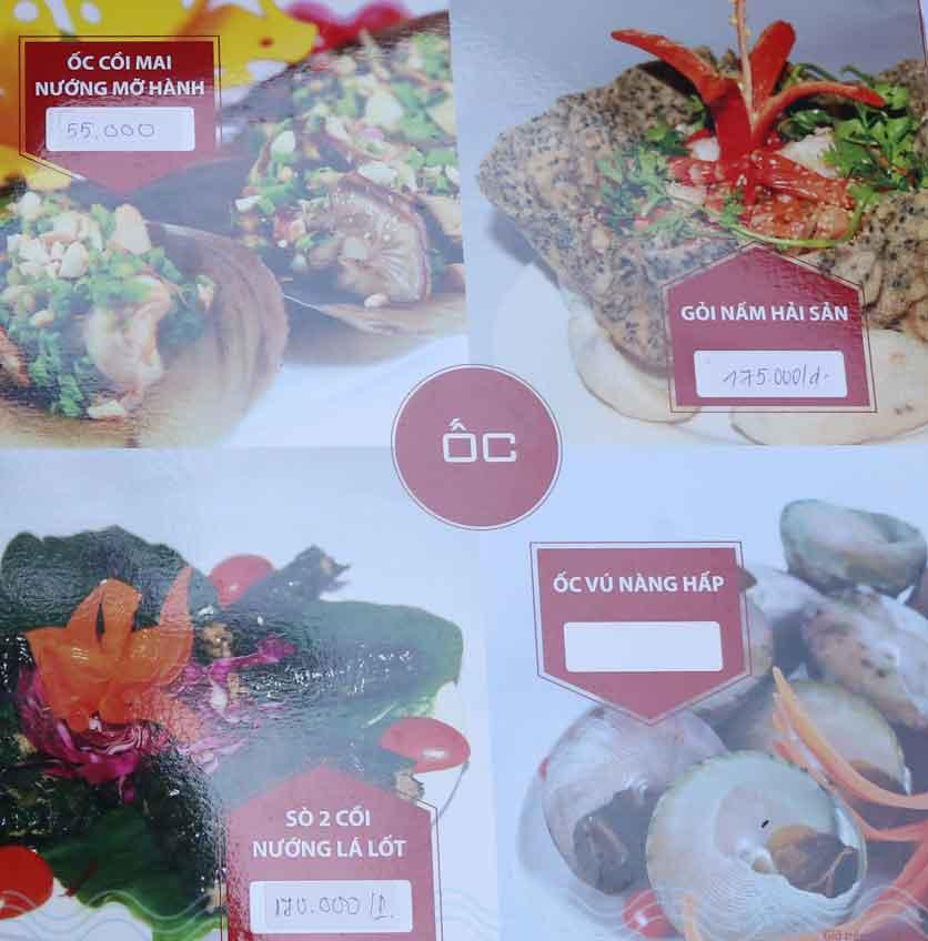 Menu Nhà hàng Phi Phố Biển - Lê Hồng Phong  6
