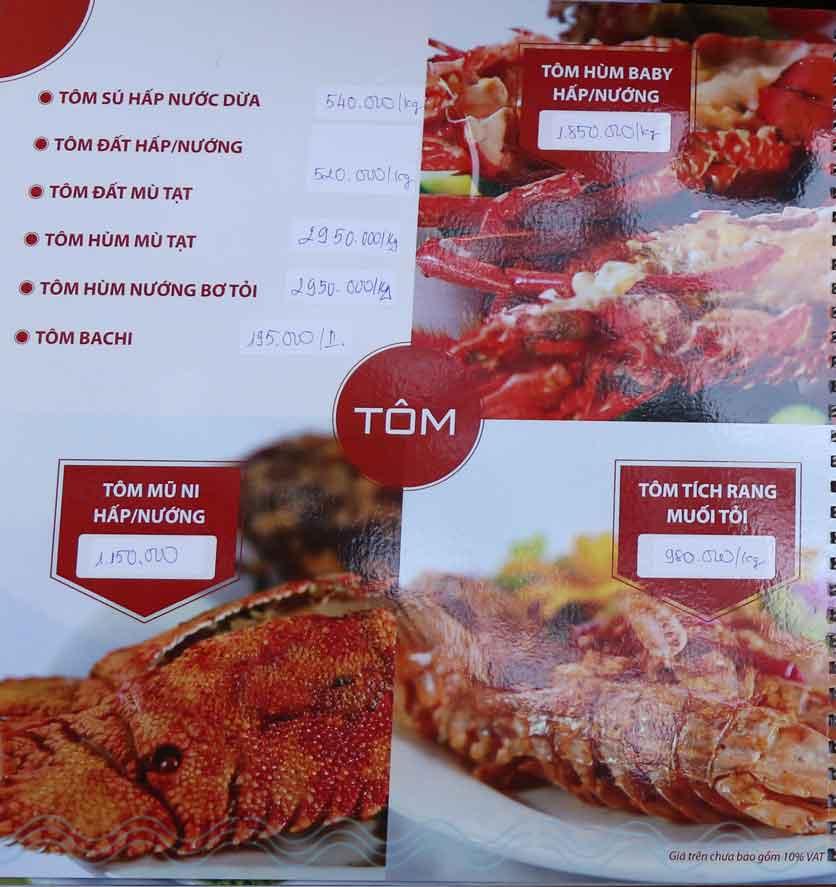 Menu Nhà hàng Phi Phố Biển - Lê Hồng Phong  7
