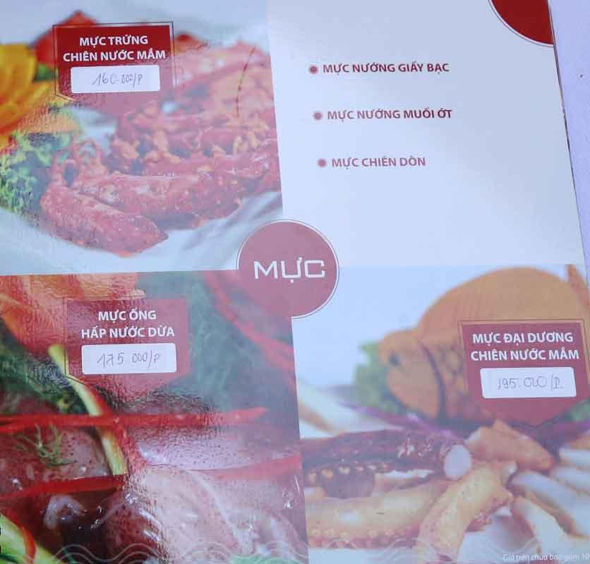 Menu Nhà hàng Phi Phố Biển - Lê Hồng Phong  8