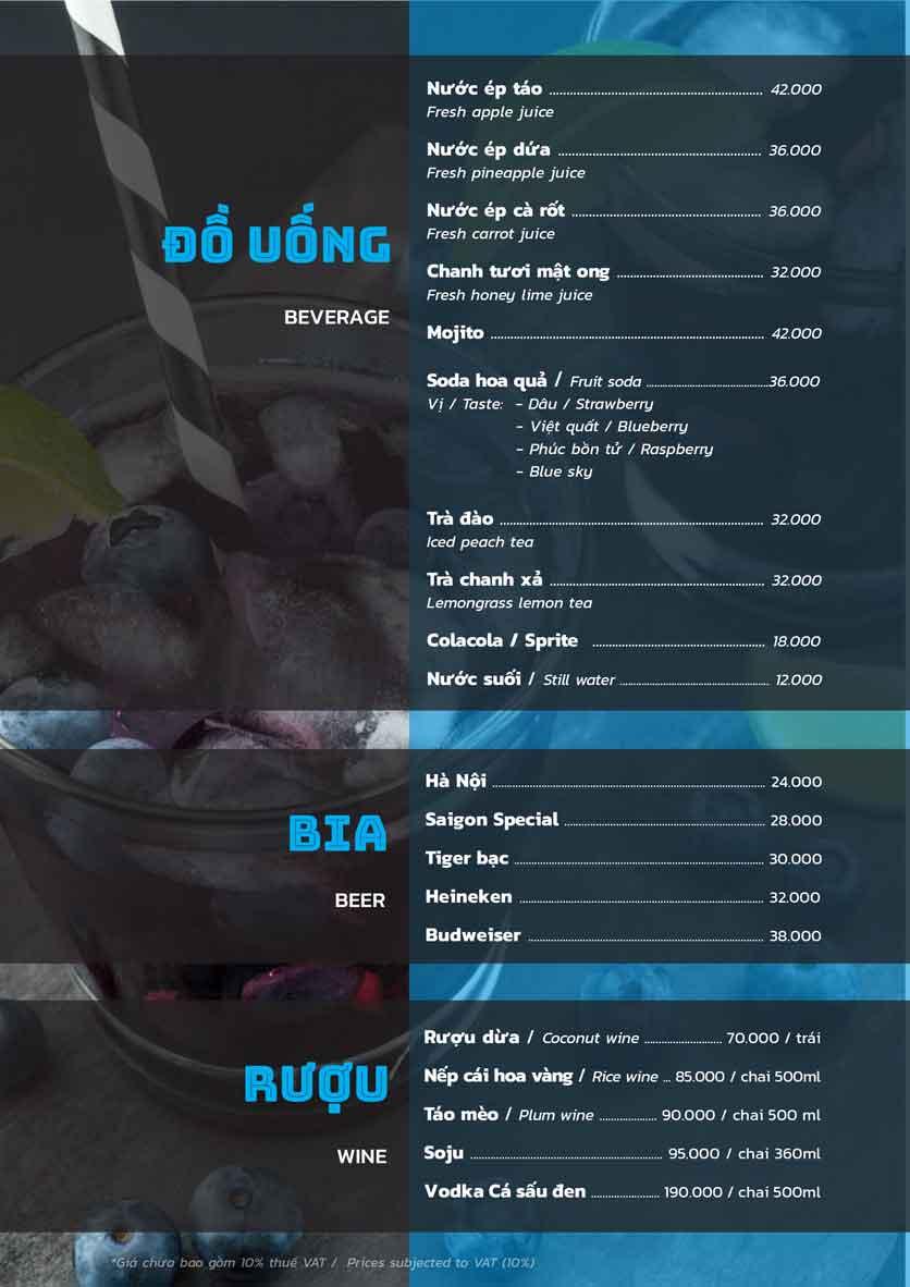 Menu PP's BBQ & Hotpot - Phan Chu Trinh 7