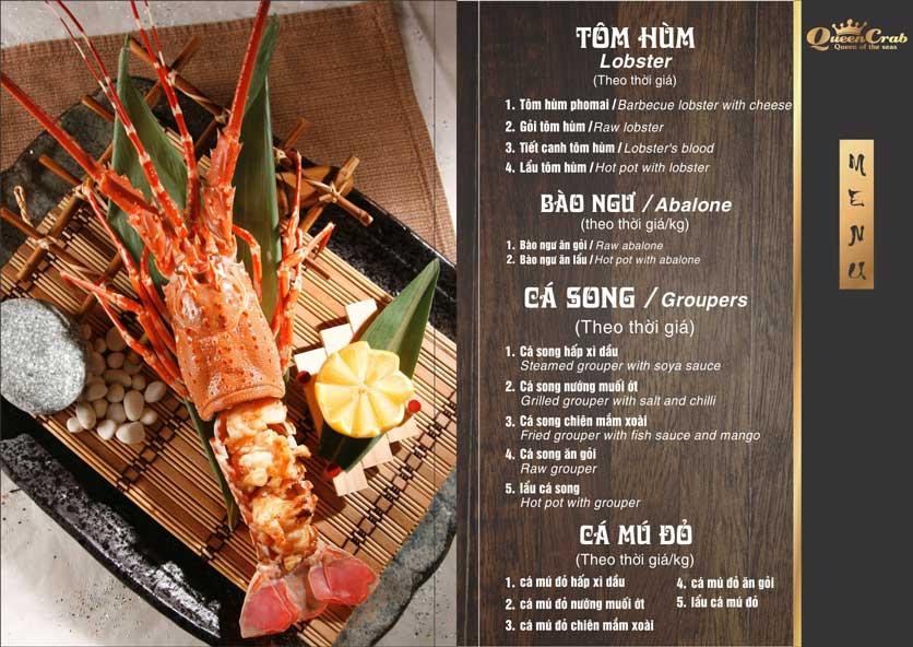 Menu Queen Crab - Hoàng Đạo Thúy 7
