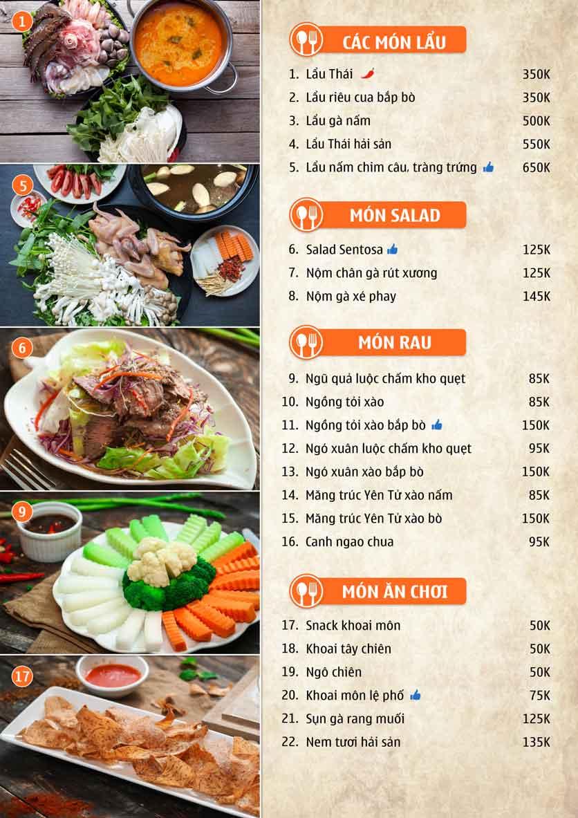 Menu Nhà hàng Sentosa  6
