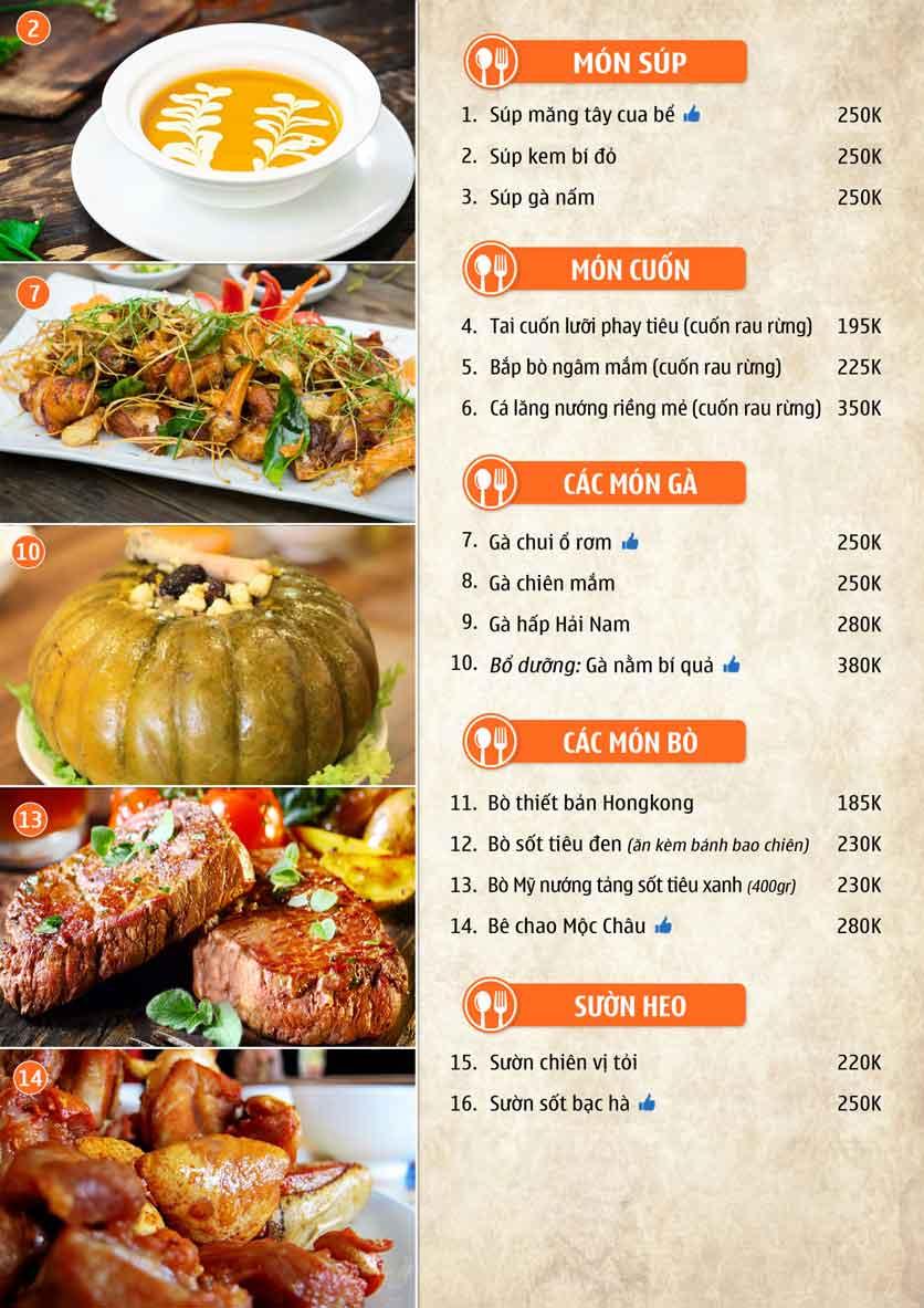 Menu Nhà hàng Sentosa  7