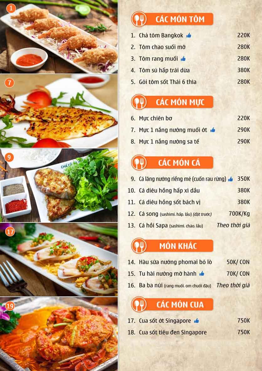 Menu Nhà hàng Sentosa  8