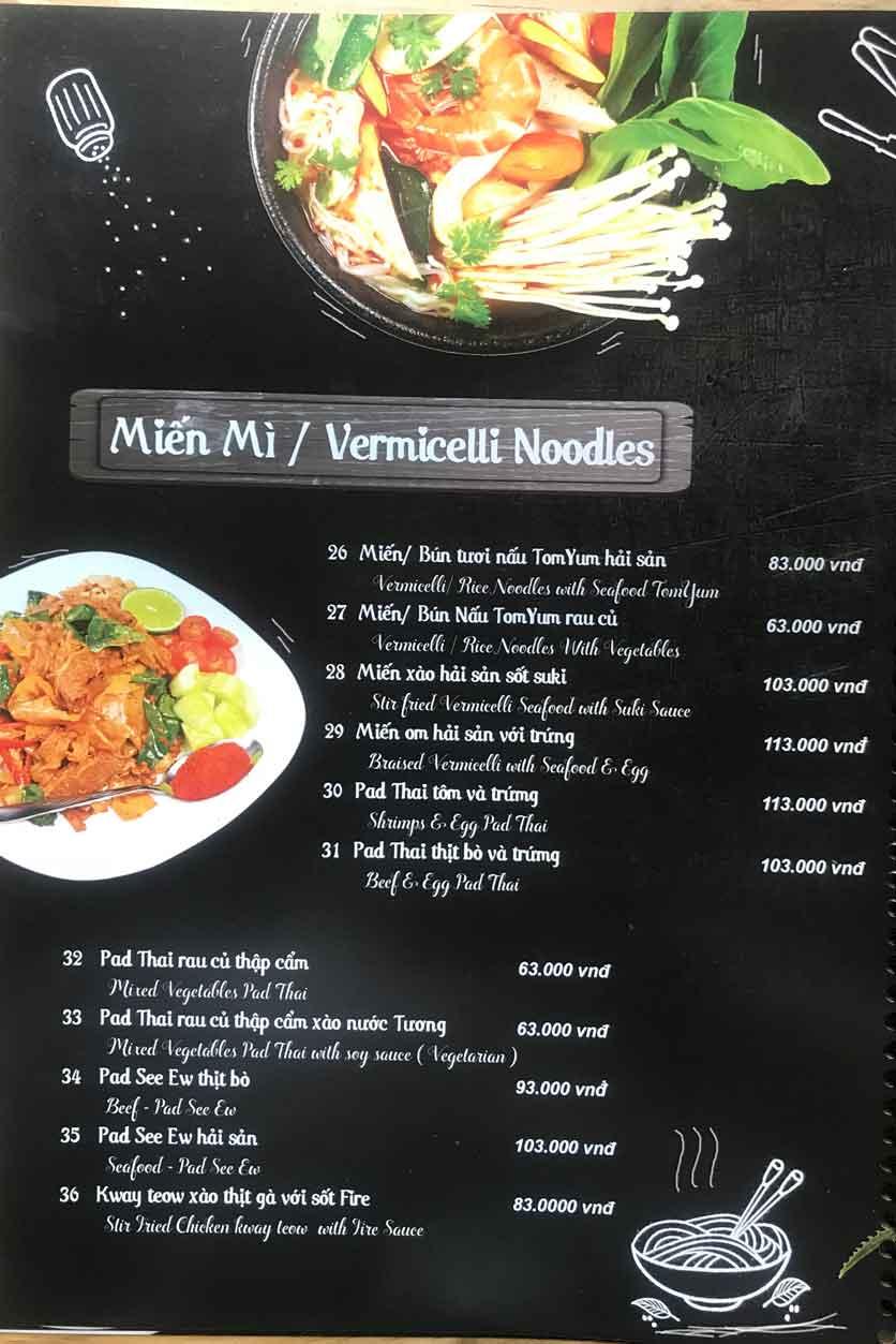 Menu Thái Blah Blah - Nguyễn Hữu Cảnh 5
