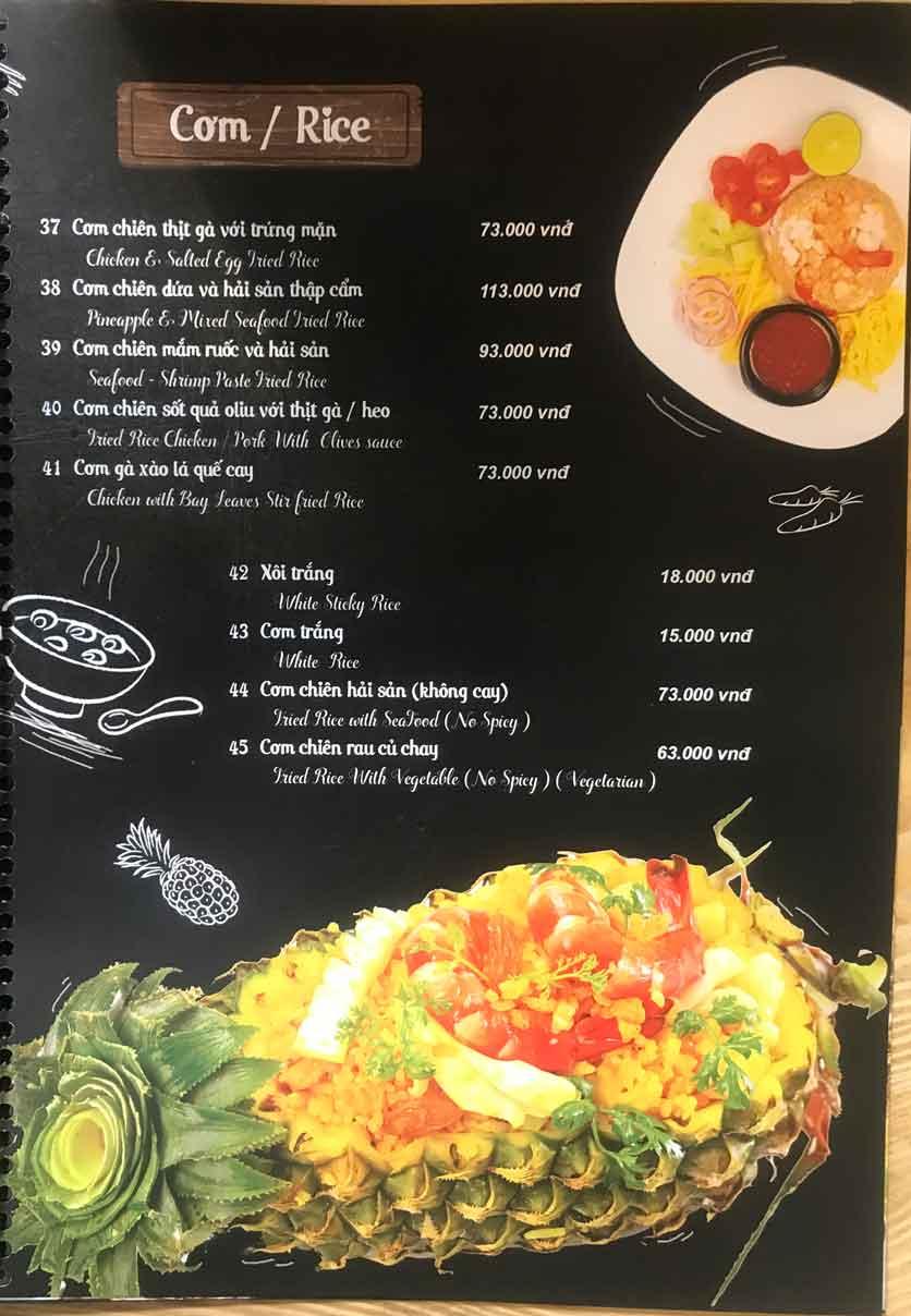 Menu Thái Blah Blah - Nguyễn Hữu Cảnh 6