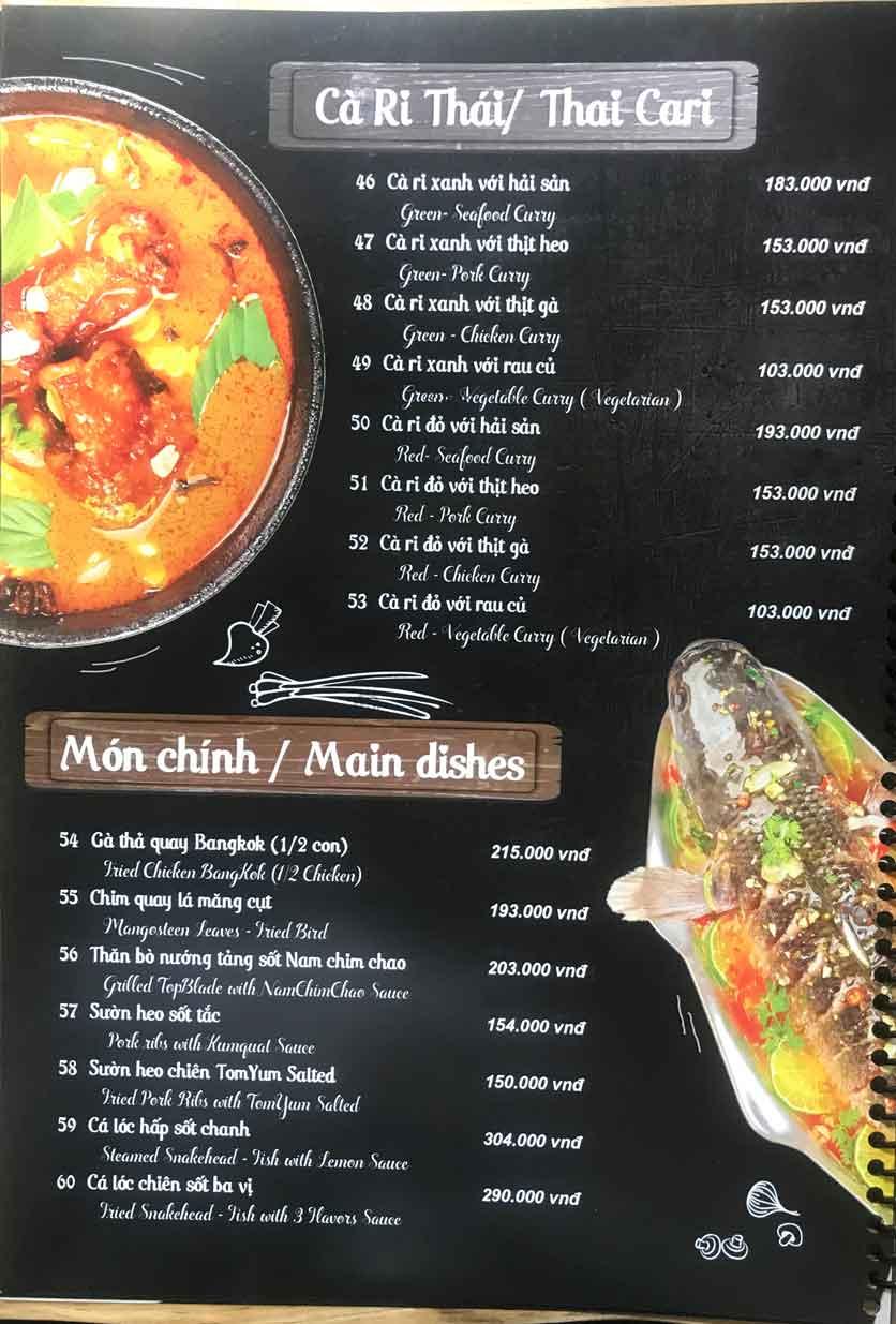 Menu Thái Blah Blah - Nguyễn Hữu Cảnh 7