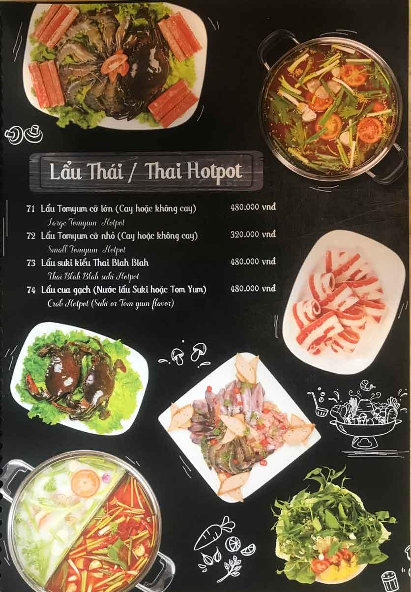 Menu Thái Blah Blah - Nguyễn Hữu Cảnh 10