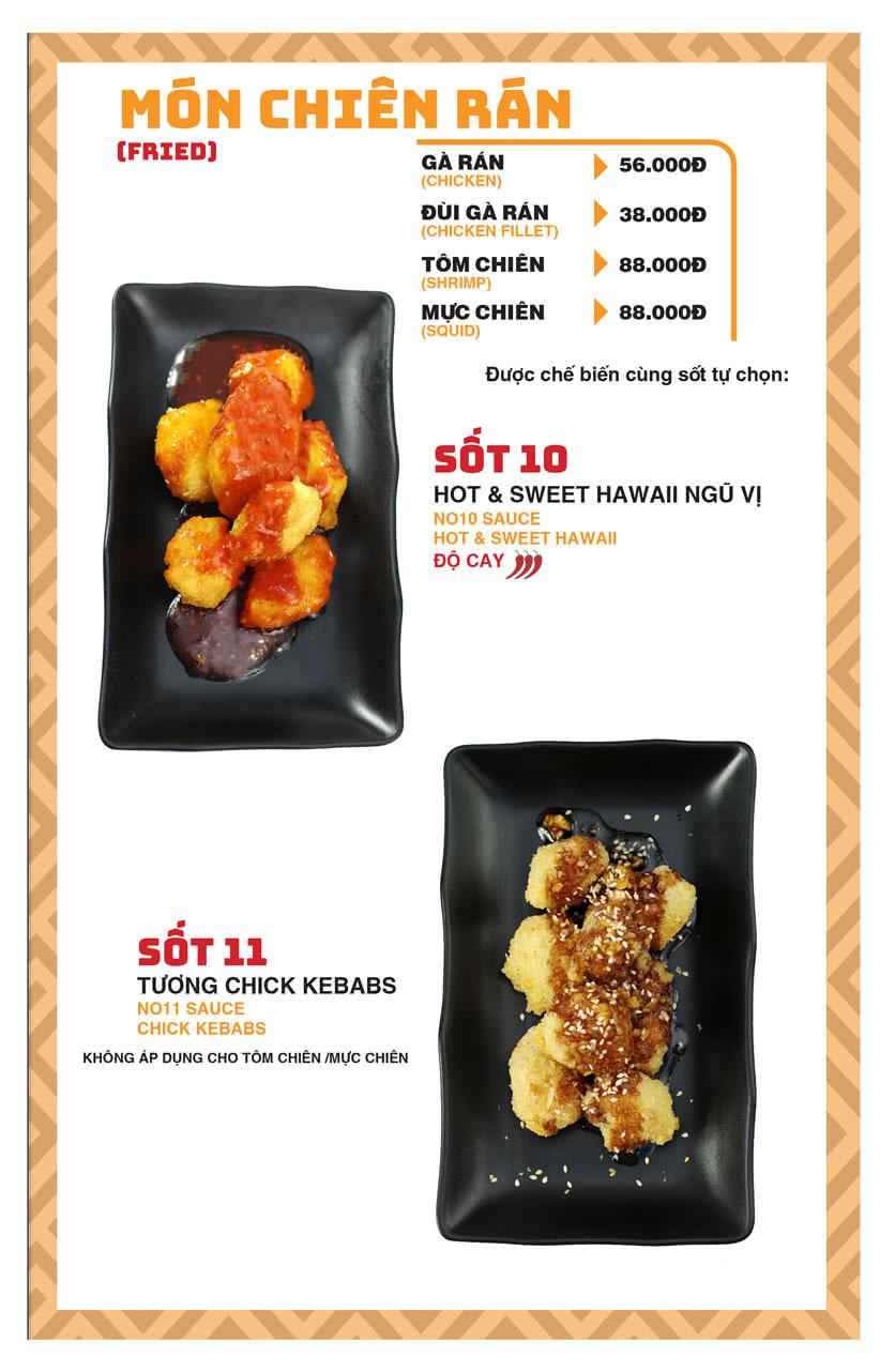 Menu Chick Kebabs - Cao Thắng  9