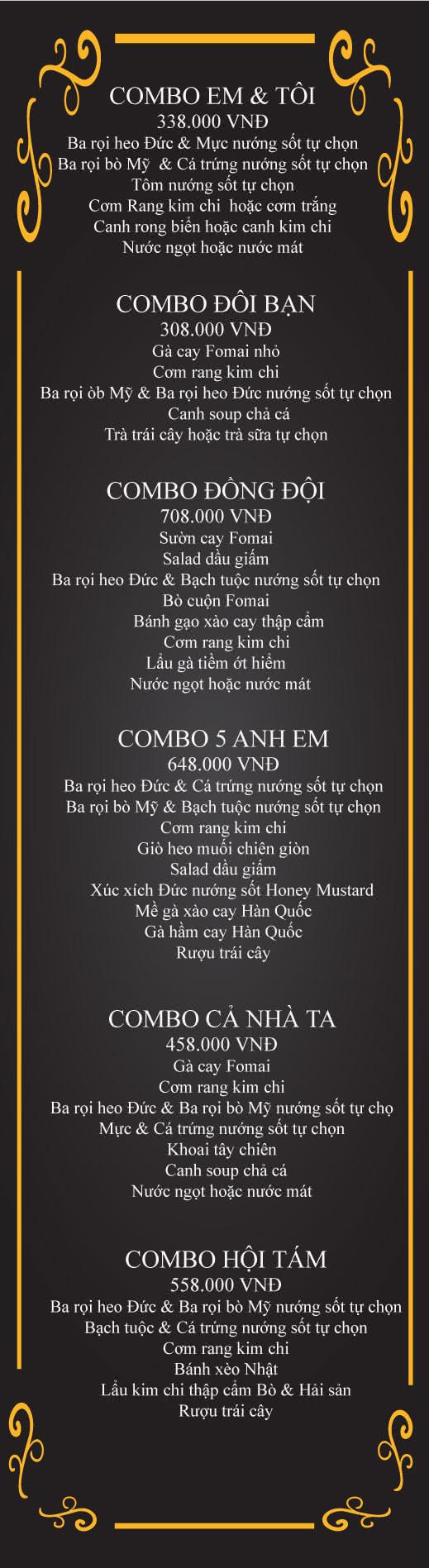 Menu Chick Kebabs - Cao Thắng  1
