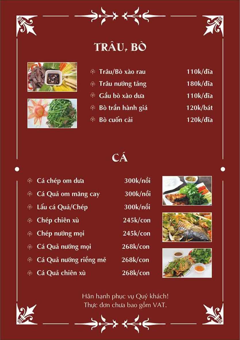 Menu Hoàng Tống - Phạm Hùng 6