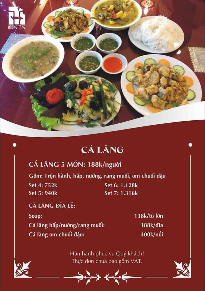 Menu Hoàng Tống - Phạm Hùng 4
