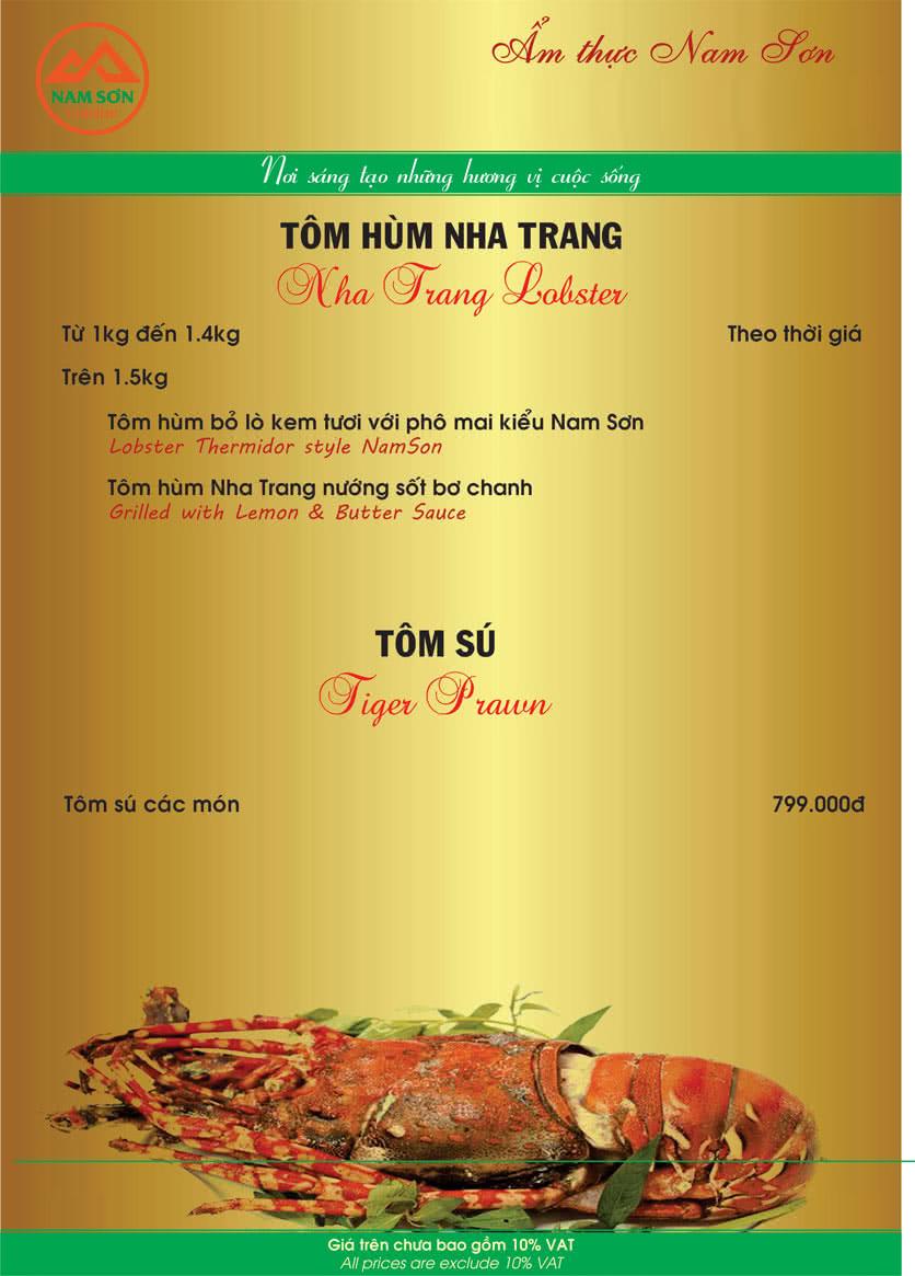 Menu Nam Sơn 5