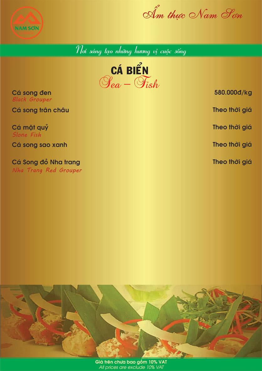 Menu Nam Sơn 8