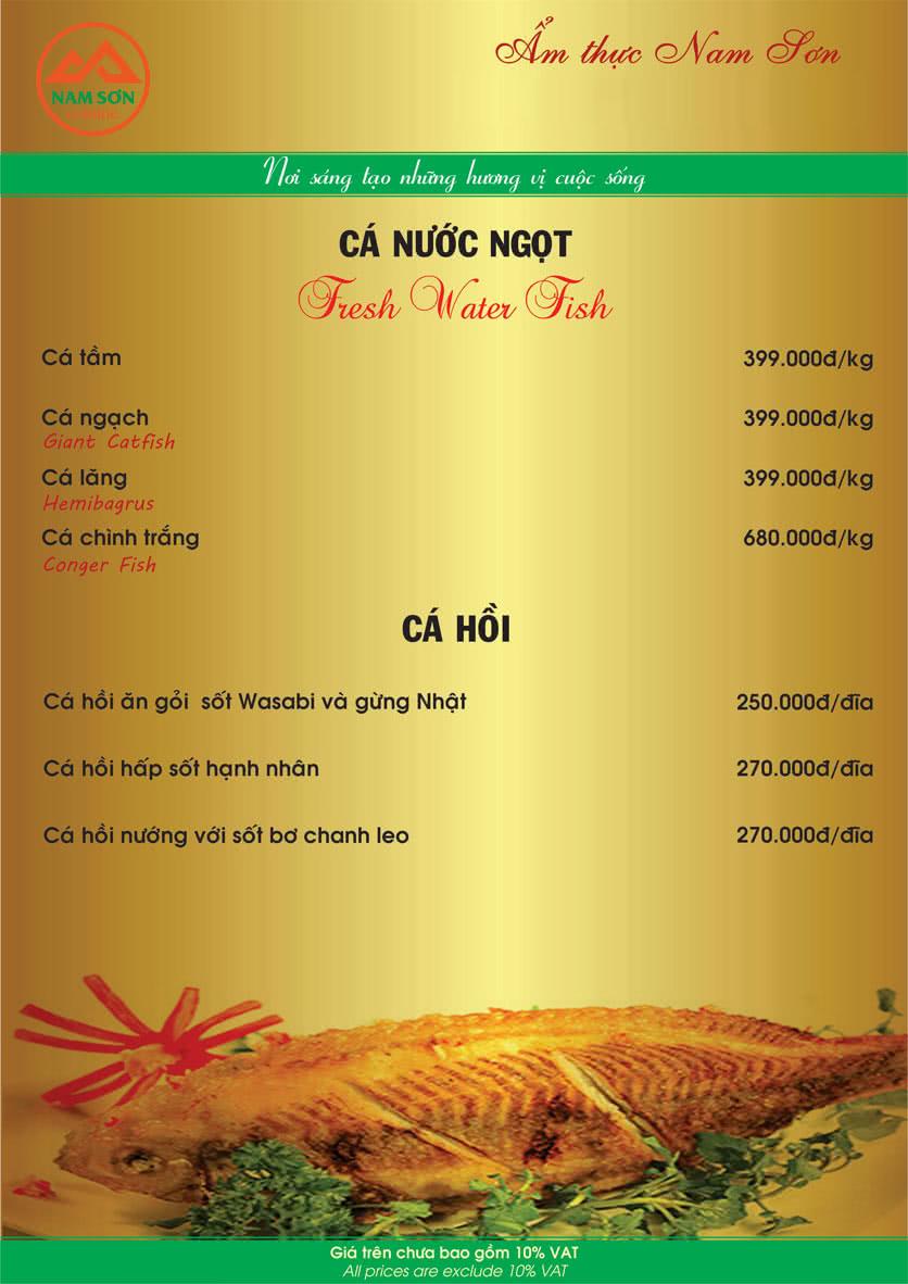 Menu Nam Sơn 9