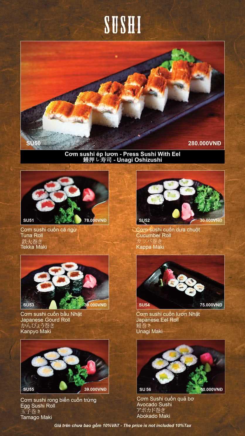 Menu Shinbashi 15
