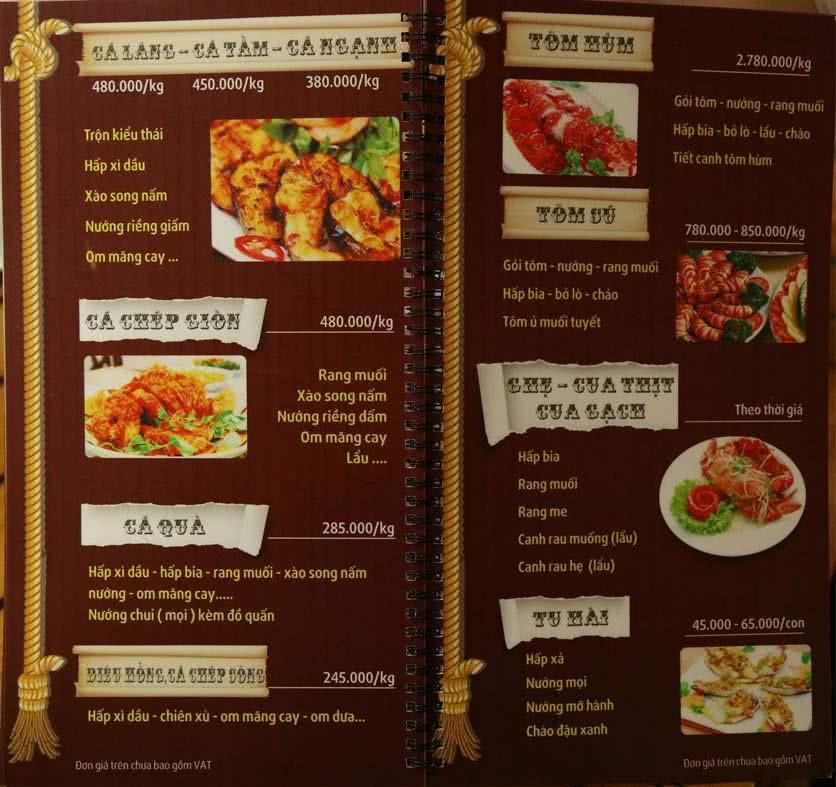 Menu Sơn Thiên  5