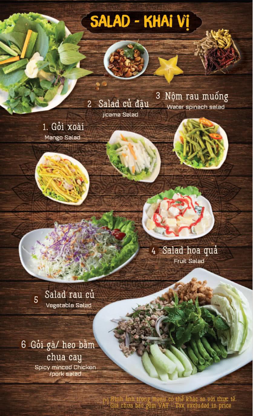 Menu Thai Pattaya 1