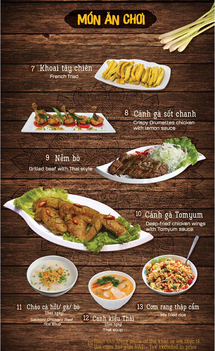 Menu Thai Pattaya 2