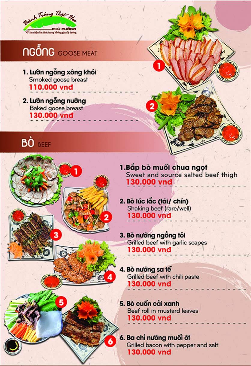 Menu Bánh Tráng Thịt Heo - Hà Đông  9