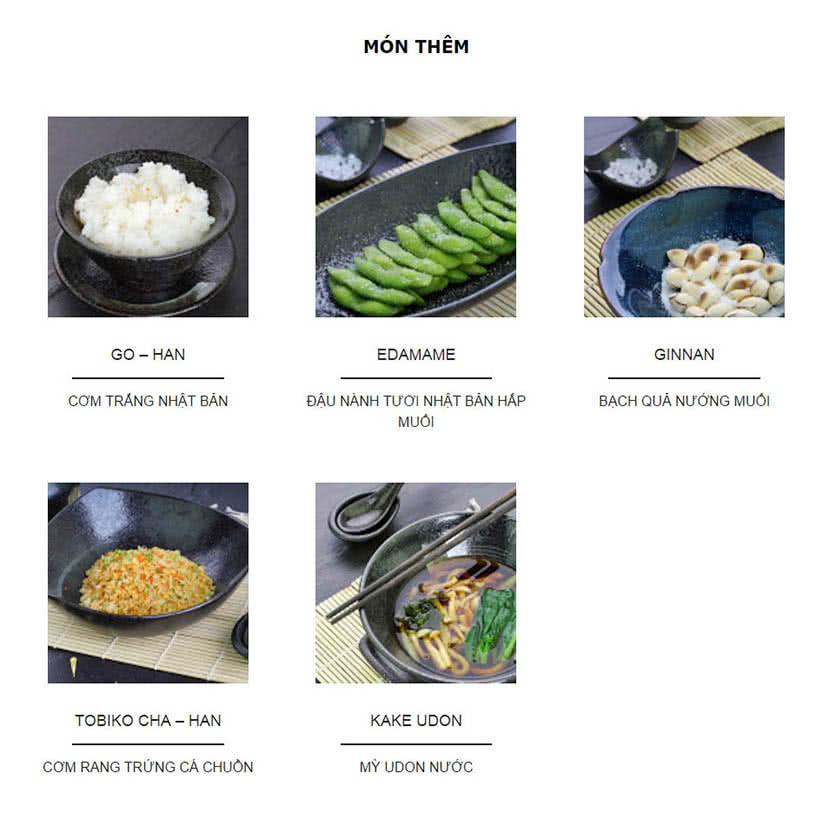 Menu Kisu Sushi – Trần Quốc Toản 6