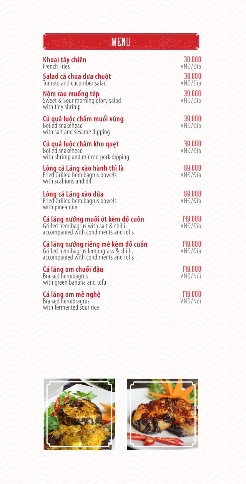 Menu Chả Cá Ngon - Nguyễn Cơ Thạch 2