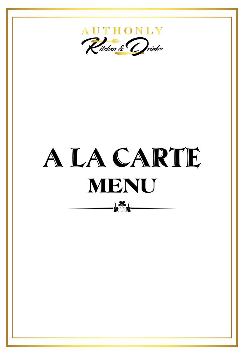 Menu Authonly Kitchen And Drinks - Lý Nam Đế 9