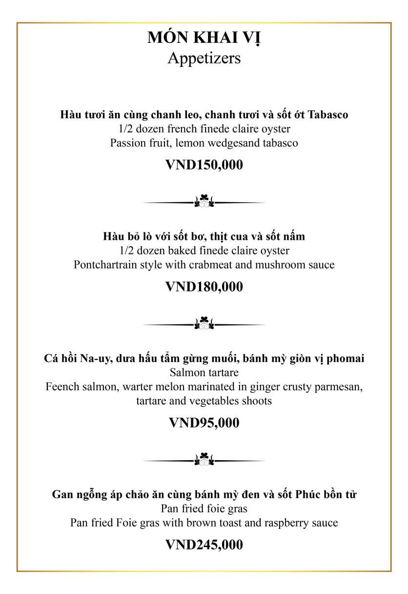 Menu Authonly Kitchen And Drinks - Lý Nam Đế 10