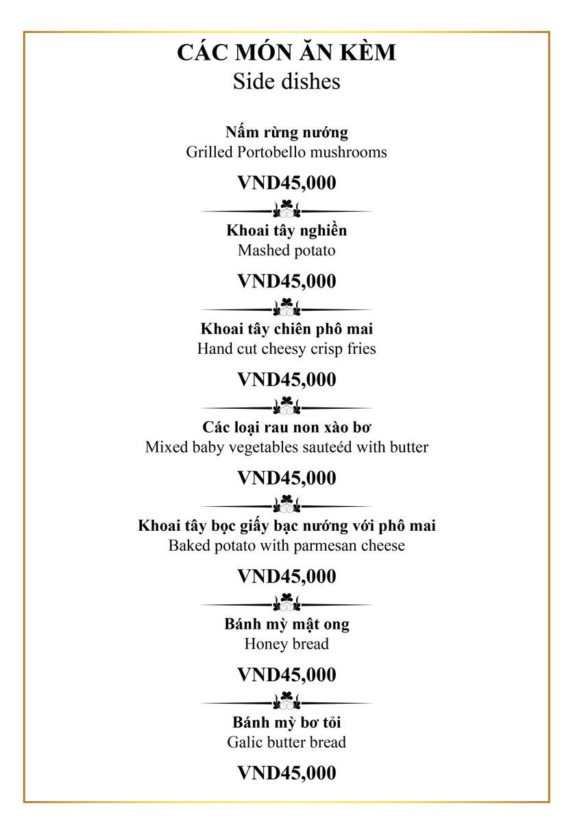 Menu Authonly Kitchen And Drinks - Lý Nam Đế 16