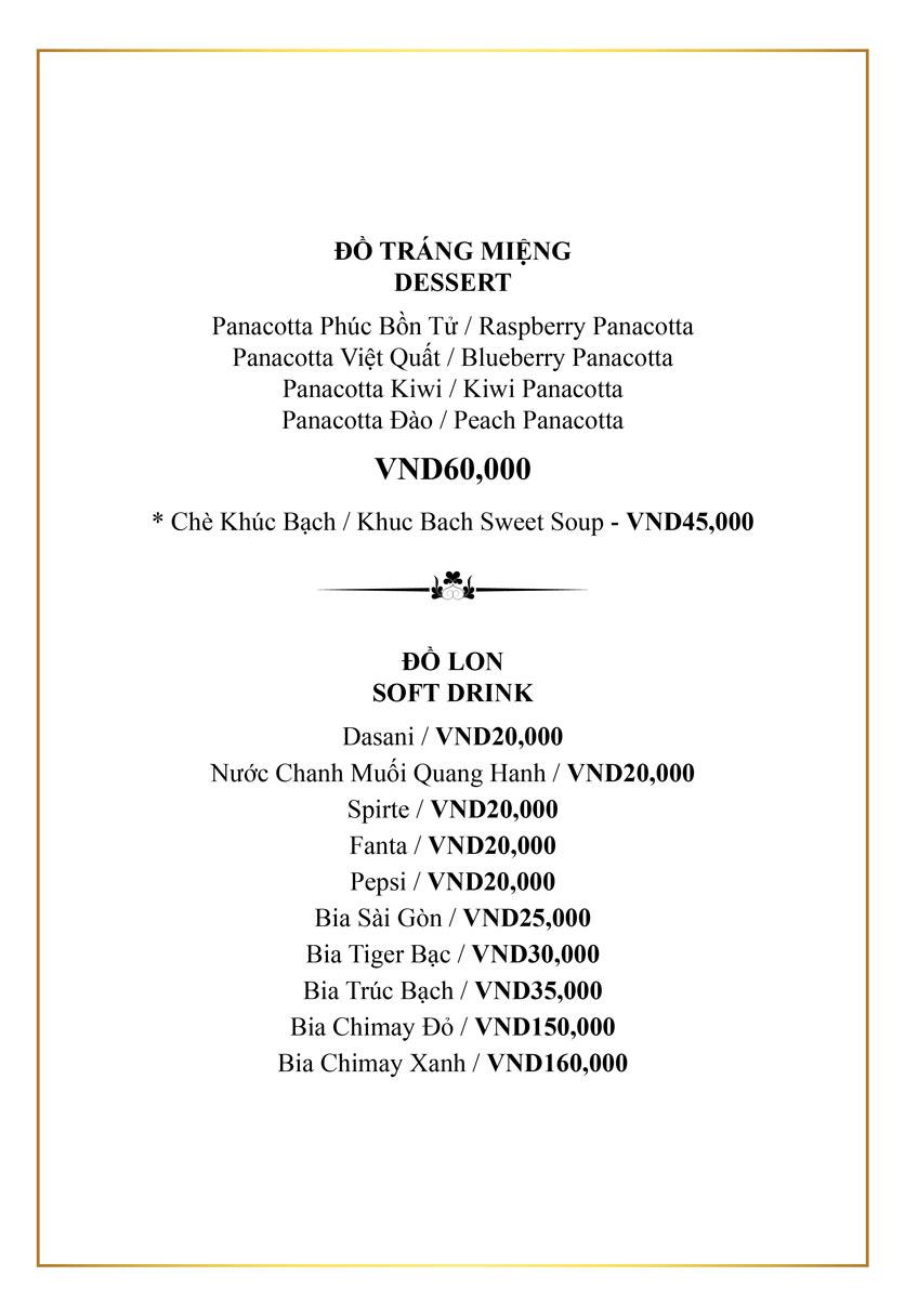 Menu Authonly Kitchen And Drinks - Lý Nam Đế 24