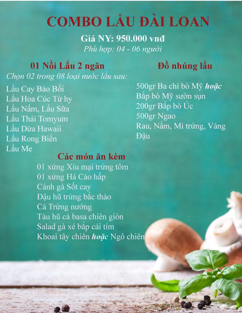 Menu Bao Bei - Lẩu Đài Loan 1